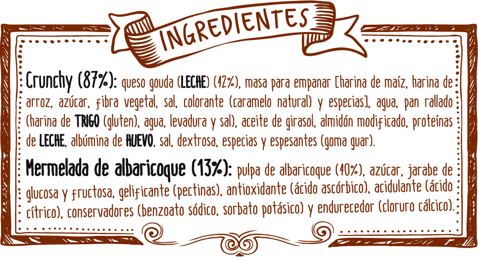 ingredientes crunchy queso gouda