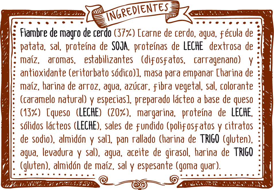 ingredientes mixtos york queso