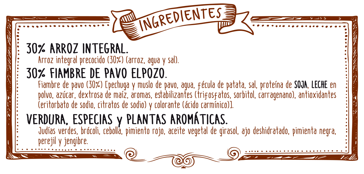 ingredientes arroz integral
