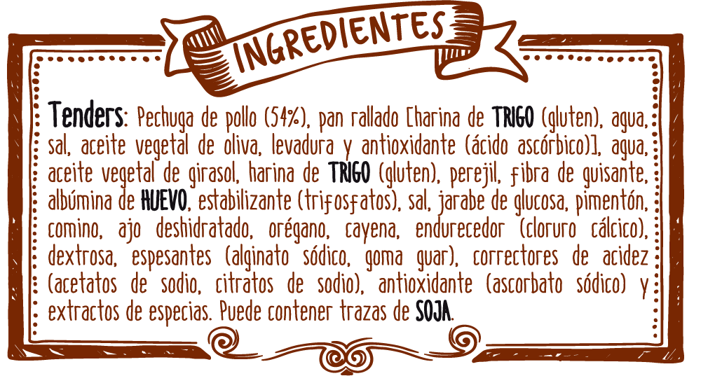 ingredientes tenders cajun